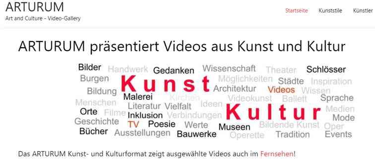 ARTURUM präsentiert Videos aus Kunst und