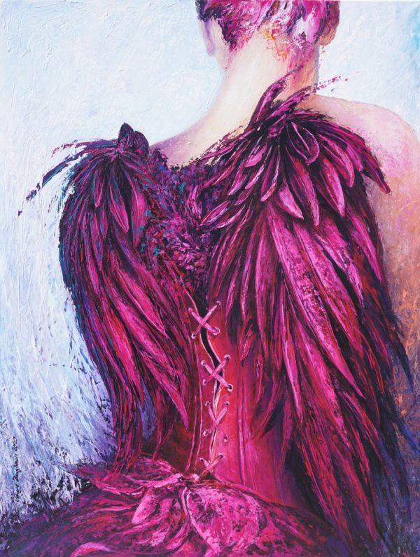 Purpur Angel Renate Berghaus Malerei klein tumb-873cba2b
